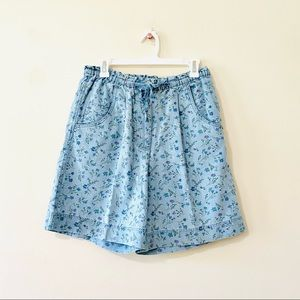 Vintage 80s high waisted jean shorts bloomers M